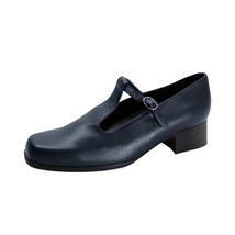PEERAGE Asma Women's Wide Width T-Strap Leather Shoes - $39.95