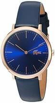 Lacoste Women's Quartz Gold and Leather Watch, Color: Blue (Model: 2000950) - $210.38