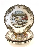 """Johnson Brothers Friendly Village 5-1/2"""" Saucers The Ice House Set of 4 - $19.99"""