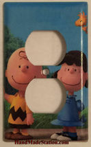 Peanuts Charlie Brown Lucy Woodstock Light Switch Outlet Wall Cover Plate Decor image 3