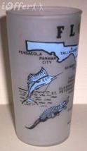 1960'S Retro Hazel ATLAS-- Frosted Souvenir Florida Glass Tumbler - $14.95