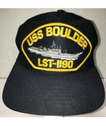 USS Boulder LST-1190 Mens Hat Baseball Cap Vintage USA US Navy Military ... - £12.58 GBP