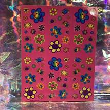 Vintage Lisa Frank Complete Sticker Sheet S496 Smile Flower Smilies DOPE AF