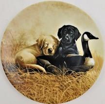 Knowles Ducking Duty Lynn Koatz Dog Plate Field Trip #2 Bradford Exchange 1991 - $29.70