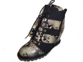 BE&D by Maison Dumain Knightsbridge Wedge Olive, Ankle High Women Strap Shoe - $54.99