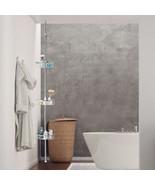 Bathroom Furniture 3-Tier Stainless Steel Adjustable Corner Shower Stora... - $38.99