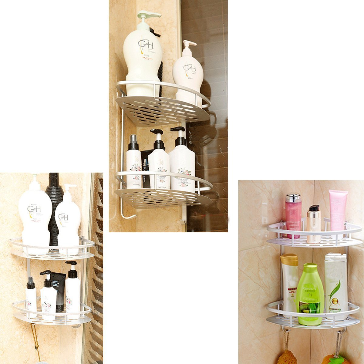 Lancher Bathroom Shelf-Storage, Organize, Shower-Caddy, Basket, Kitchen, Tools