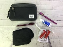 Herschel Black Full Travel Toiletry Accessory Cosmetic Bag Pouch Virgin ... - $29.69