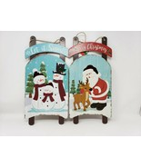 Christmas House Holiday Snow Sled Decorative Sign - New - $12.99