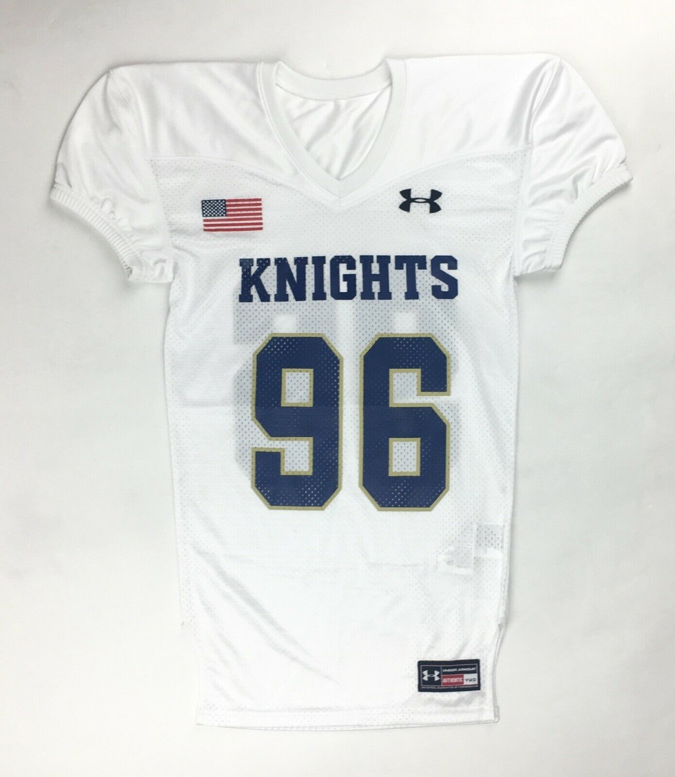 Primary image for New Under Armour Knights Performance Football Jersey #96 Youth M White 1241721