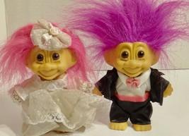 Troll Doll Bride & Groom Lot - $9.89