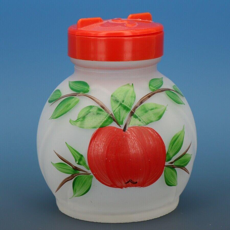Vintage Hazel Atlas Gay Fad Apple Hand Painted Glass Sugar Shaker