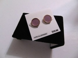 "Charter Club 1/2""   Rose Gold Tone Pink Stone Stud Earrings HH480 - $8.63"