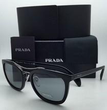 New PRADA Sunglasses SPR 17Q 1AB-3C2 55-21 Black & Gunmetal Frame w/ Grey Lenses