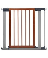 Munchkin Wood & Steel Pressure Mount Baby Gate for Stairs, Hallways and ... - $61.99