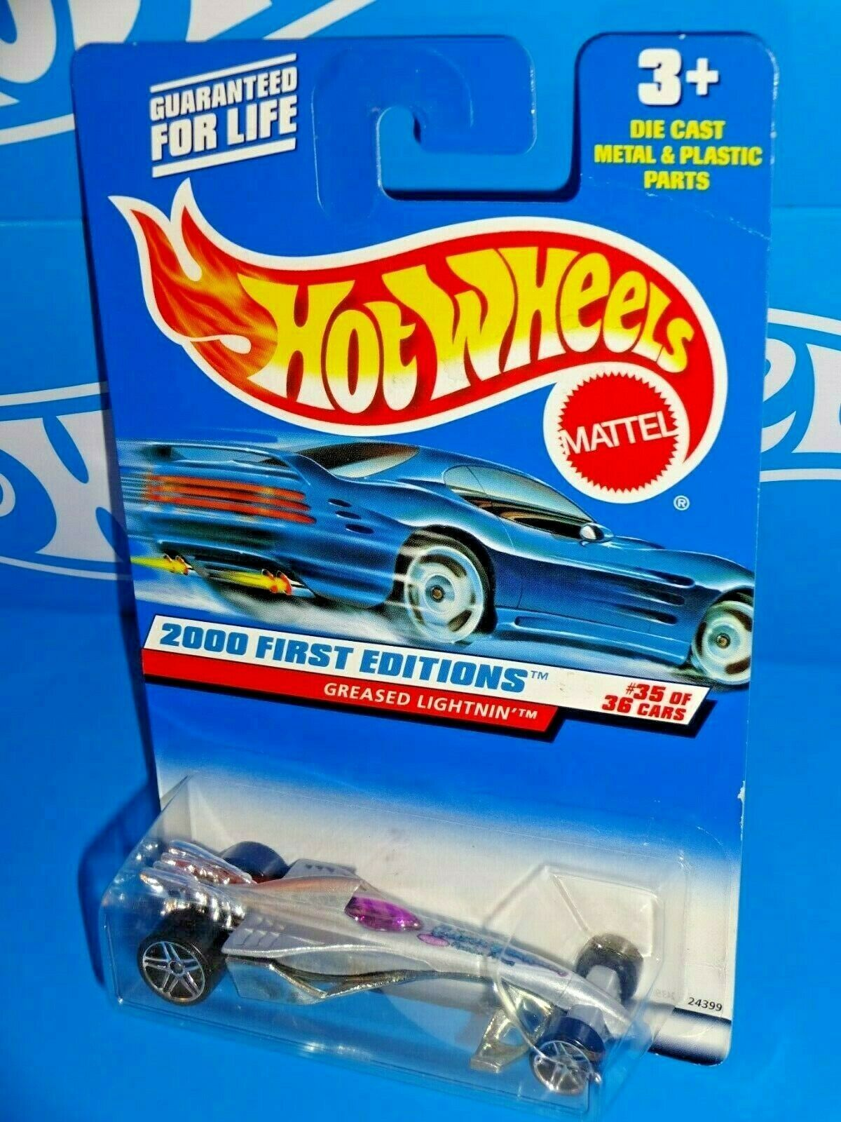 Primary image for Hot Wheels 2000 First Editions #35 Greased Lightnin' Grey w/ PR5s