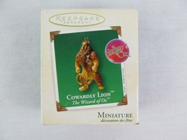 Hallmark Keepsake Ornament Cowardly Lion 2003 Christmas Miniature - $9.89