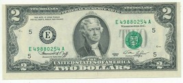 1976 $2 TWO DOLLAR FEDERAL RESERVE NOTE-PRINT ERROR-CRISP UNCIRCULATED-F... - $29.95