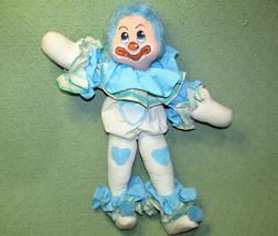"""19"""" Vintage Annette Little Enesco Lovey Clown 1978 Blue Hard Stuffed Wired Doll - $24.75"""
