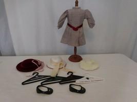 Pleasant Company American Girl Samantha Meet Outfit Dress Hat + Fur Hat + Hanger - $52.49