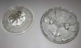 """Round glass ivy print serving bowl - 3 divided sections with lid -  6"""" d... - $24.99"""