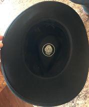 DORFMAN PACIFIC Fedora Black Wool Felt Velvet Hat Feather Sz M Brush Made USA image 9