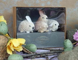 POTTERY BARN BOTTLEBRUSH BUNNIES (3) – NIB – HARE'S A TRIO YOU CAN'T RES... - $39.95