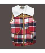 Million Bullpup fleece lined plaid vest SIZE SMALL - $29.65