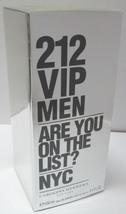 Carolina Herrera 212 VIP MEN EDT 100ml 3.4oz Eau de Toilette NEW & 100% ... - $52.99