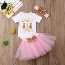 Newborn Baby Girls Clothes Romper Tops Jumpsuit Tutu Skirts Headband Out... - $10.99