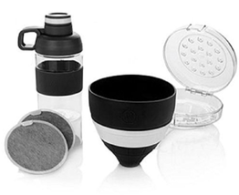JOY Mangano Miracle Clean Water Filter Set with Case and Bottle , Black - $17.72