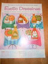 Vintage Kraft Exotic Dressings Print Magazine Advertisement 1961 - $4.99