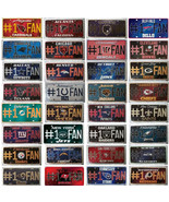 #1 Fan NFL License Plates All 32 Teams - $9.99