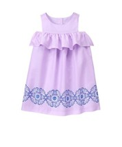 Janie and Jack Off-The-Shoulder Dress Lilac Girl Youth Kids NWT NEW - $42.50