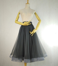 2020 High Waisted Ruffle Tulle Tutu Skirt Layered Tulle Midi Skirt Outfit T1880 image 4