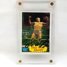 Signed The Iron Sheik 1985 Topps Vtg Auto WWF Wrestling Autograph Card Wrestler - $14.82
