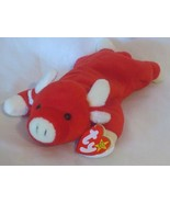 Ty Beanie Baby Snort The Red Bull 1995 4th Hang Tag 3rd Tush Tag PVC - $11.87