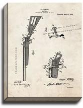 Shotgun Patent Print Old Look on Canvas - $39.95+