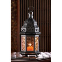 Amber Moroccan Candle Lantern   D1058  SMC - $10.84