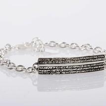 Silber Armband 925 Brüniert Schwarz, Herren Damen By Maria Ielpo Made in... - $137.00
