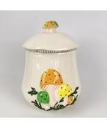 """Vintage 70s Magic Mushroom 9"""" Kitchen Canister Cookie Jar Coffee Tea Sta... - $9.31"""