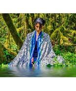 Scarves printed with the shipibo sacred geometry, Very soft modal Silk a... - $38.00