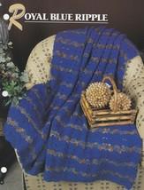 Royal Blue Ripple, Annie's Crochet Quilt & Afghan Pattern Club Leaflet Q... - $3.95
