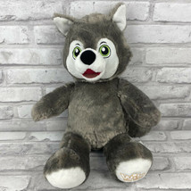 """Build a Bear Wiley the Wolf Great Wolf Lodge 16"""" Grey Plush BAB No Clothes - $24.09"""