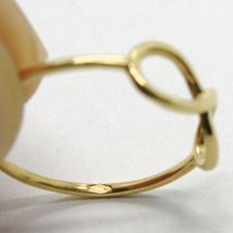 18K YELLOW GOLD INFINITE CENTRAL RING, INFINITY, SMOOTH, BRIGHT, MADE IN ITALY image 6