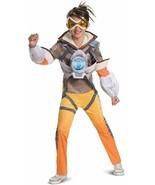 Kids' Overwatch Tracer Deluxe 3 Piece Halloween Costume L 10-12 Disguise - £11.57 GBP