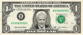 Alex Trebek on a REAL Dollar Bill Cash Money Collectible Memorabilia Celebrity - $8.88