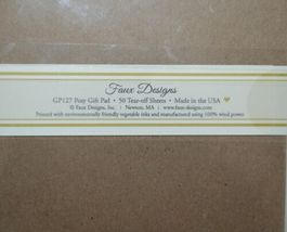 Faux Designs GP127 Posy Gift Notepad 50 Tear off Sheets image 3