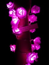 Fantasee LED Rose Flower String Lights Battery Operated, Decoration Rose... - $9.87