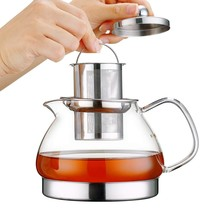 Toyo Hofu Clear High Borosilicate Glass Teapot with Removable 304 Stainl... - £26.64 GBP
